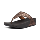 Fitflop Lulu Glitter Toe-Thongs Chocolate Metallic