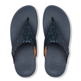 Fitflop Lulu Glitter Toe-Thongs Navy