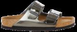 Birkenstock Arizona Metallic antraciet Zacht Voetbed 1000295