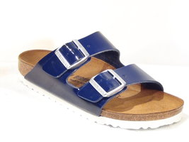 Birkenstock Arizona Patent Dress Blue 1005296 mt. 37-40