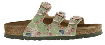 Birkenstock Florida Meadow Flowers khaki Zacht Voetbed 1012781 Mt. 40 - 42