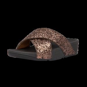Fitflop Lulu Glitter slides Chocolate Metallic