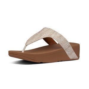 Fitflop Lottie Glitter Stripe Toe-Thongs Stone