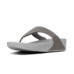 Fitflop Lulu Shimmer Toe Post Pewter